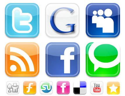 Online brand presence through social media