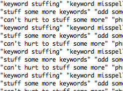 Keywords and Content